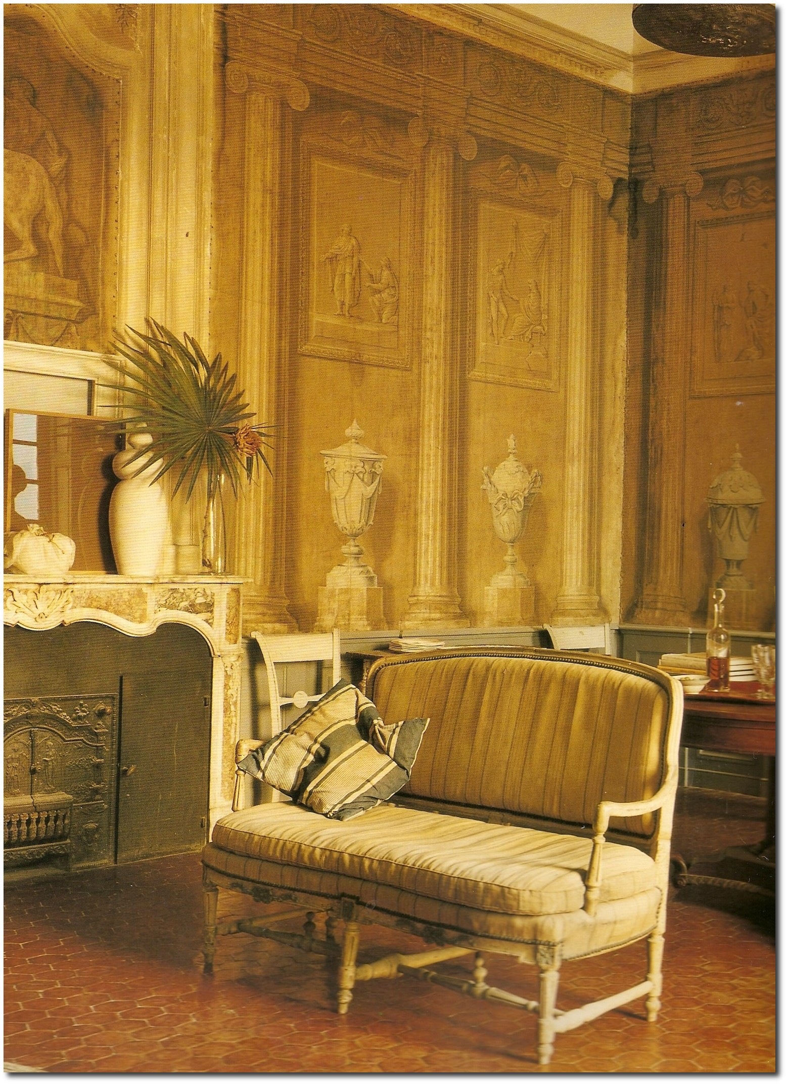 Francois Halards Home Walls Painted By The Neoclassical Artist Jacques Reattu In 19th Century 2