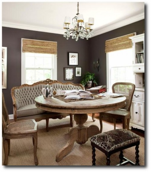 French Chairs With Brown Interiors1 500x570 Decorating With Dark Brown  French Styling