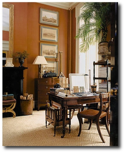 Gil Schafers apartment. Love the caramel tobacco brown color palette Decorating With Dark Brown  French Styling