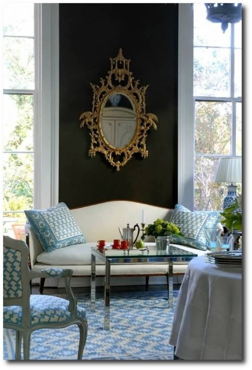 Ned Marshall1 500x734 Decorating With Dark Brown  French Styling