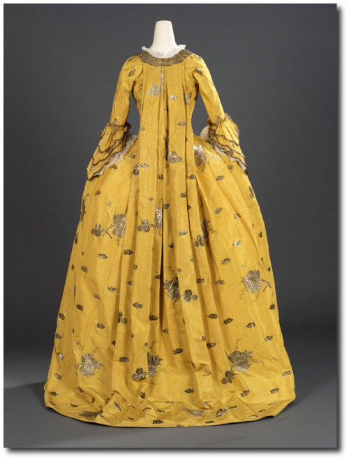 1750's Canary Yellow Dress 3 500x659 Mantua Court Gowns