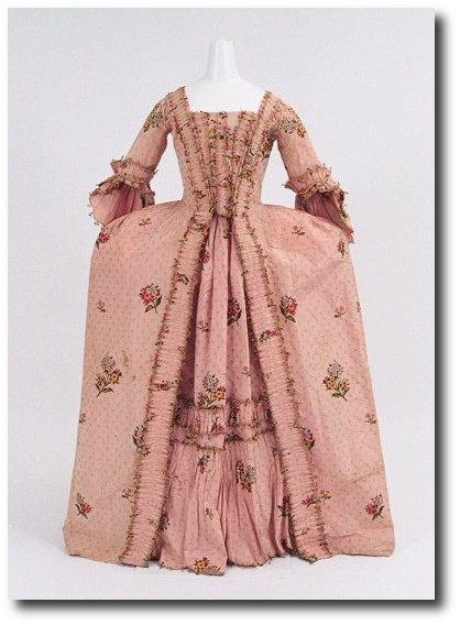 1760 70 Pink Gown Mantua Court Gowns